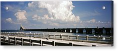 Bridge Across A Bay, Sunshine Skyway Acrylic Print by Panoramic Images