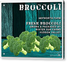 Broccoli Farm Acrylic Print by Marvin Blaine