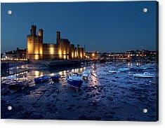 Caernarfon Castle Acrylic Print by Ollie Taylor