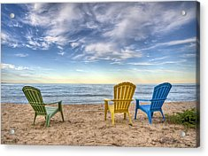 3 Chairs Acrylic Print by Scott Norris