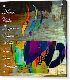 Coffee House Menu Acrylic Print by Marvin Blaine