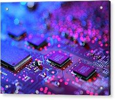 Computer Hardware Acrylic Print by Tek Image