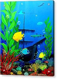 3-d Aquarium Sm Acrylic Print by Snake Jagger