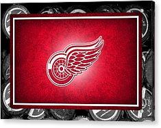 Detroit Red Wings Acrylic Print by Joe Hamilton