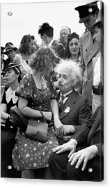Einstein At World's Fair Acrylic Print by Underwood Archives