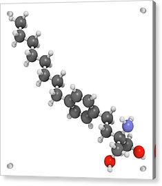 Fingolimod Multiple Sclerosis Drug Acrylic Print by Molekuul