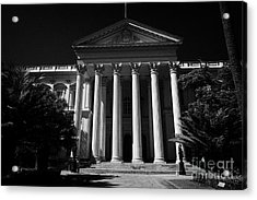 former national congress building Santiago Chile Acrylic Print by Joe Fox