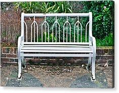 Garden Bench Acrylic Print by Tom Gowanlock