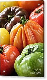 Heirloom Tomatoes Acrylic Print by Elena Elisseeva