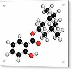 Homosalate Sunscreen Molecule Acrylic Print by Molekuul