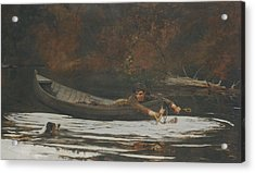 Hound And Hunter Acrylic Print by Winslow Homer