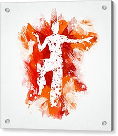 Karate Fighter Acrylic Print by Aged Pixel