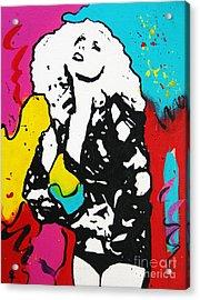 Lady Gaga Acrylic Print by Venus