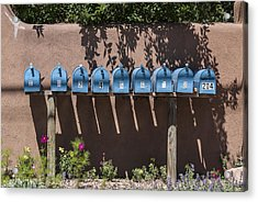 Mailboxes Santa Fe Nm Acrylic Print by David Litschel