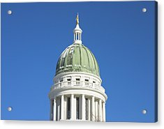 Maine State Capitol Building In Augusta Acrylic Print by Keith Webber Jr