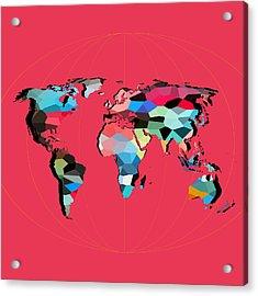 Map Of The World  Acrylic Print by Mark Ashkenazi