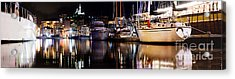 Marseille France Panorama At Night Acrylic Print by Michal Bednarek