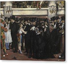 Masked Ball At The Opera Acrylic Print by Edouard Manet