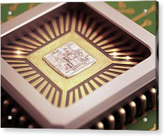 Microchip Acrylic Print by Ktsdesign