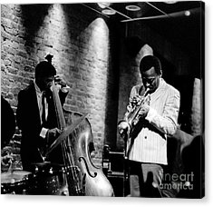 Miles Davis And Buster Williams At The Penthouse Acrylic Print by Dave Coleman