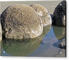 Moeraki Boulders Acrylic Print by Joyce Woodhouse
