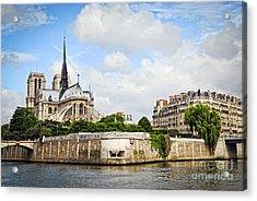 Notre Dame De Paris Acrylic Print by Elena Elisseeva