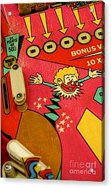 Pinball Machine Acrylic Print by Bernard Jaubert