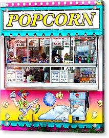 Popcorn Stand Acrylic Print by Jim Hughes
