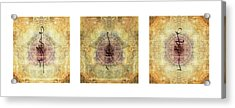 Prayer Flag Triptych  Acrylic Print by Carol Leigh