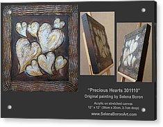 Precious Hearts 301110 Acrylic Print by Selena Boron