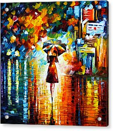 Rain Princess Acrylic Print by Leonid Afremov