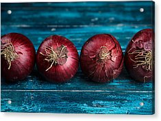 Red Onions Acrylic Print by Nailia Schwarz