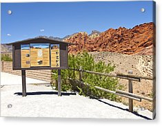 Red Rock Canyon Nevada. Acrylic Print by Gino Rigucci