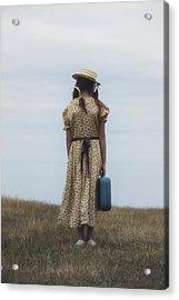 Refugee Girl Acrylic Print by Joana Kruse