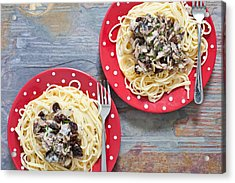 Sardines And Spaghetti Acrylic Print by Tom Gowanlock