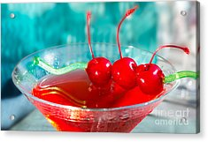 Shirley Temple Drink Acrylic Print by Iris Richardson