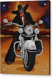 Steel Pony Acrylic Print by Lance Headlee