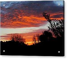 Sunset New Zealand Acrylic Print by Joyce Woodhouse