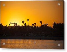 Sunset Santa Barbara Acrylic Print by Ralf Kaiser