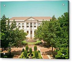 The Old Main - University Of Arkansas Acrylic Print by Mountain Dreams