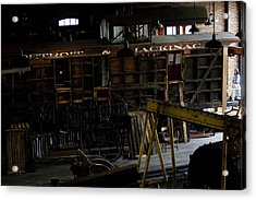 The Roundhouse Workshop Acrylic Print by Gary Marx