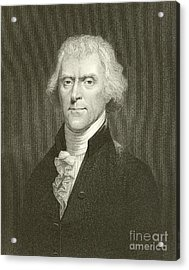 Thomas Jefferson Acrylic Print by English School
