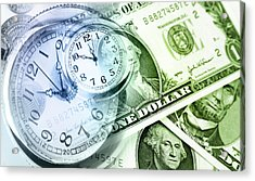 Time Is Money Acrylic Print by Les Cunliffe