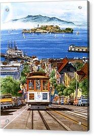 Trolley Of San Francisco Acrylic Print by John YATO