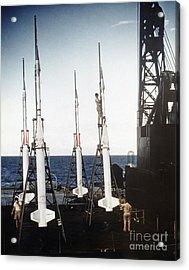 Us Navy Rockets 1958 Acrylic Print by Granger