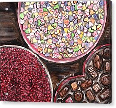Valentines Day Candy Acrylic Print by Shana Rowe Jackson