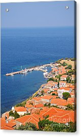 View Of Molyvos Village From The Castle Acrylic Print by George Atsametakis