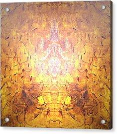 Yellow Acrylic Print by Pirsens Huguette