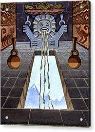 Mayan Passage Acrylic Print by Robert Poole