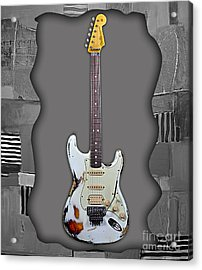 Fender Stratocaster Collection Acrylic Print by Marvin Blaine